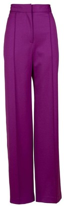 Adam Lippes Pintuck Wide Leg Trouser
