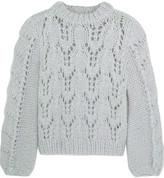 GANNI Faucher Mohair And Wool-blend Sweater