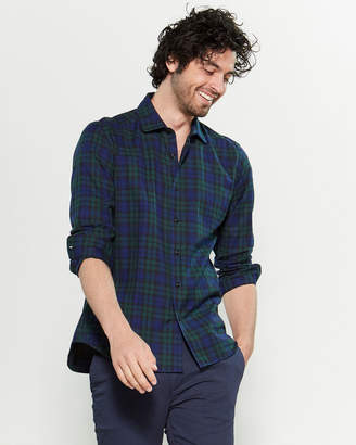 Altea Royal Blue & Green Long Sleeve Check Shirt