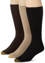 Gold Toe Men's Metropolitan 3 Pack Cotton Lisle Dress Sock