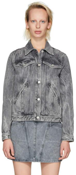 Givenchy Grey Studded Denim Jacket