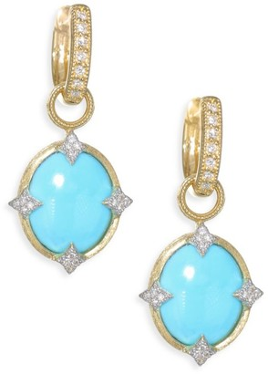 Jude Frances Small 18K Gold & Diamond Moroccan Turquoise Drop Earring Charms