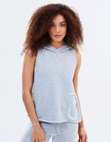 Calvin Klein Cut-Off Logo Sleeveless Hoodie