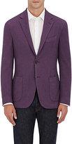 Barneys New York Men's Wool-Silk Piqué Two-Button Sportcoat-PURPLE