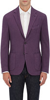 Barneys New York MEN'S WOOL-SILK PIQUÉ TWO-BUTTON SPORTCOAT