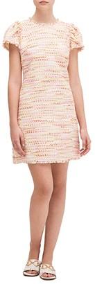 Kate Spade Multi Tweed Shift Dress (Pink Lotus) Women's Dress