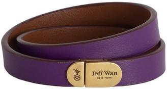 Jeff Wan Leather Bracelet With Magnetic Closure Purple Manhattan