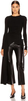 Rosetta Getty Long Sleeve Apron Wrap T Shirt in Black | FWRD