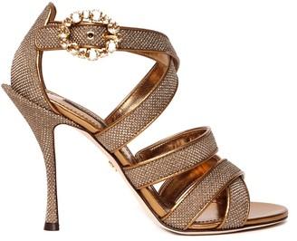 Dolce & Gabbana Keira Diamond Glitter Sandals