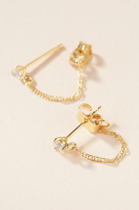 Anthropologie Josie Front-Back Hoop Earrings By in Gold Size ALL
