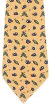 Hermes Bug Print Silk Tie