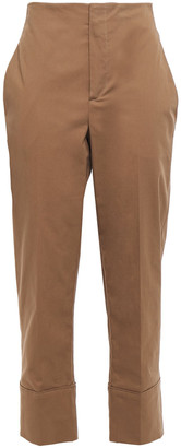 Brunello Cucinelli Cropped Cotton-blend Twill Straight-leg Pants