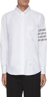 Thom Browne Four-bar stripe oxford shirt