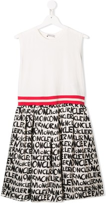 Moncler Enfant TEEN casual logo print dress