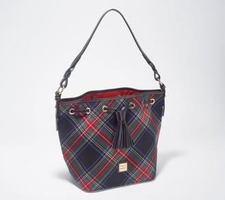 Dooney & Bourke Tartan Plaid Tasha Drawstring Bag