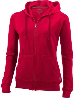 Slazenger Womens/Ladies Open Full Zip Hooded Ladies Sweater (XL) (Red)