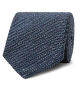 Tom Ford 8cm Mélange Silk And Wool-blend Tie - Storm blue