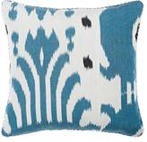 "Madeline Weinrib Bara Ikat"" Pillow-BLUE"