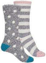 BearPaw Cozy Socks -Crew, 2-Pack (For Women)