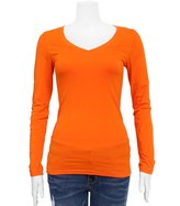FineBrandShop Ladies V-neck Long Sleeve T-Shirt