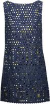 Anna Sui Sea Spray broderie anglaise cotton mini dress