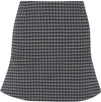 Sonia Rykiel Fluted Checked Stretch-crepe Mini Skirt