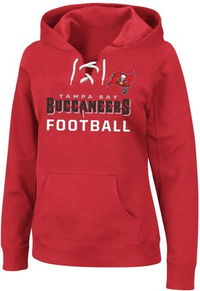 Plus Size Tampa Bay Buccaneers Lace-Up Hoodie