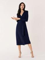 Diane von Furstenberg Astrid Wool-Cashmere Midi Wrap Dress