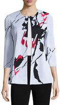 Misook Abstract Pattern Jacket, Plus Size