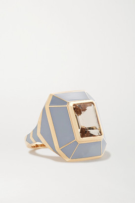 Alice Cicolini Candy 14-karat Gold, Enamel And Morganite Ring - 6