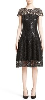 Talbot Runhof Women's Sequin Cutout Fit & Flare Dress