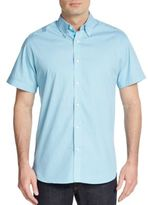 Saks Fifth Avenue Regular-Fit Textured Cotton Sportshirt