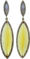 Monique Péan Citrine And Grey Sunburst Fossilized Walrus Ivory