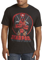 True Nation Deadpool Crossed Graphic Tee Casual Male XL Big & Tall