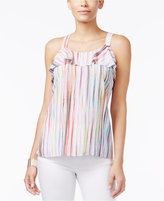 Thalia Sodi Striped Cutaway-Back Tank Top, Only at Macy's