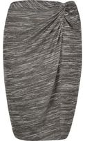 River Island Womens RI Plus grey twist knot pencil skirt