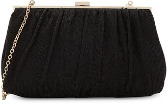 La Regale Silky Mesh Chain-Strap Shoulder Bag
