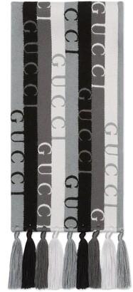 Gucci stripe wool scarf