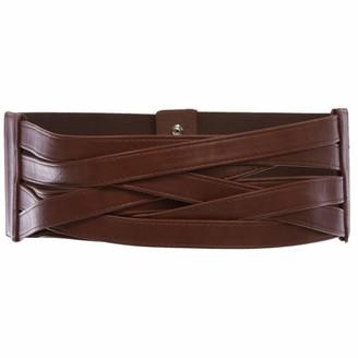 "Beltiscool 4"" Women's High Waist Non Leather Fashion Wide Braided Stretch Belt"