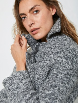 Mint Velvet Textured Chuck On Coat - Grey