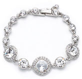 Givenchy Cubic Zirconia and Crystal Bracelet