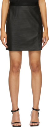 Wolford Black Faux-Leather Estelle Miniskirt