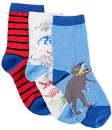 Class Club 3-Pack Dino Print Crew Socks