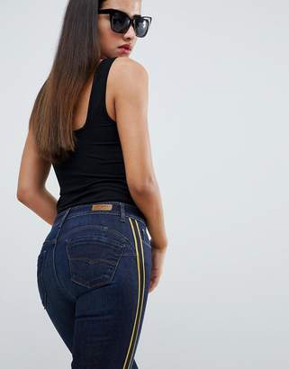 Salsa wonder push up bum lift jean with side panel-Blue