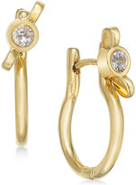 Marc by Marc Jacobs Gold-Tone Crystal Wingnut Hinge Hoop Earrings