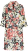 Dolce & Gabbana Floral-print fil coupé coat