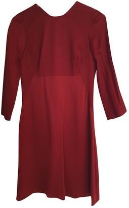 Jigsaw Burgundy Silk Dress for Women