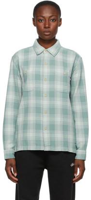 Stussy Green Plaid Beach Shirt