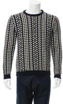 Raf Simons Merino Wool Patterned Knit Sweater