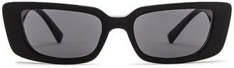 Versace Virtus Narrow Sunglasses in Black   FWRD